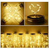 Solar Mason Jar Lid String Lights (8 Pack)