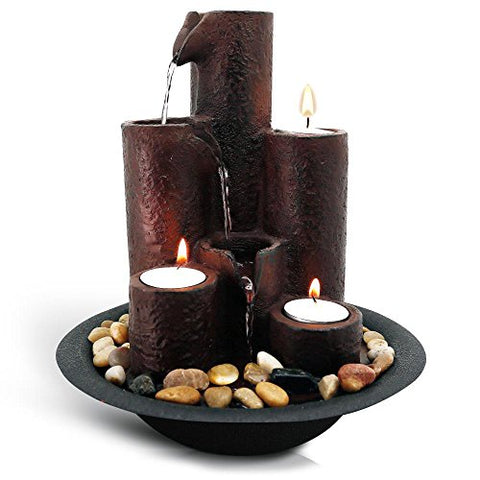 Tabletop 3-Tier Waterfall Fountain