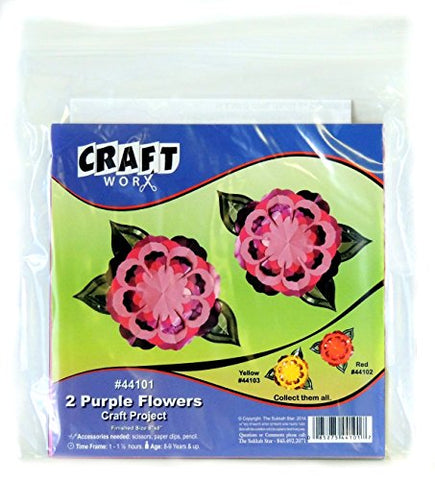 Do it yourself paper craft kit set of 2 purple flowers 6 x 6 do it yourself paper craft kit set of 2 purple flowers 6 solutioingenieria Gallery