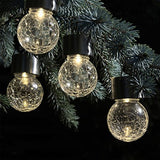 Waterproof Solar Rotatable Round Ball Lights (4pc, Yellow)