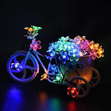 Outdoor Flower String Lights, 8 Mode, Waterproof