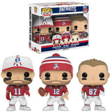 FUNKO POP! NFL: NEW ENGLAND PATRIOTS 3-PACK GTS/ BGV Toys Exclusive - Otaku Toy Collection LLC