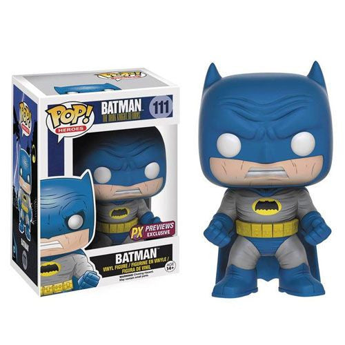 Funko Pop! DC Comics 111 Dark Knight Returns- Batman (Blue Costume) PX Preview Exclusive - Otaku Toy Collection LLC