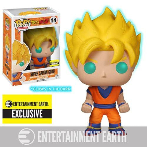 Damaged Box Funko Pop! Dragon Ball Z Super Saiyan Goku Glow in the Dark Entertainment Earth Exclusive