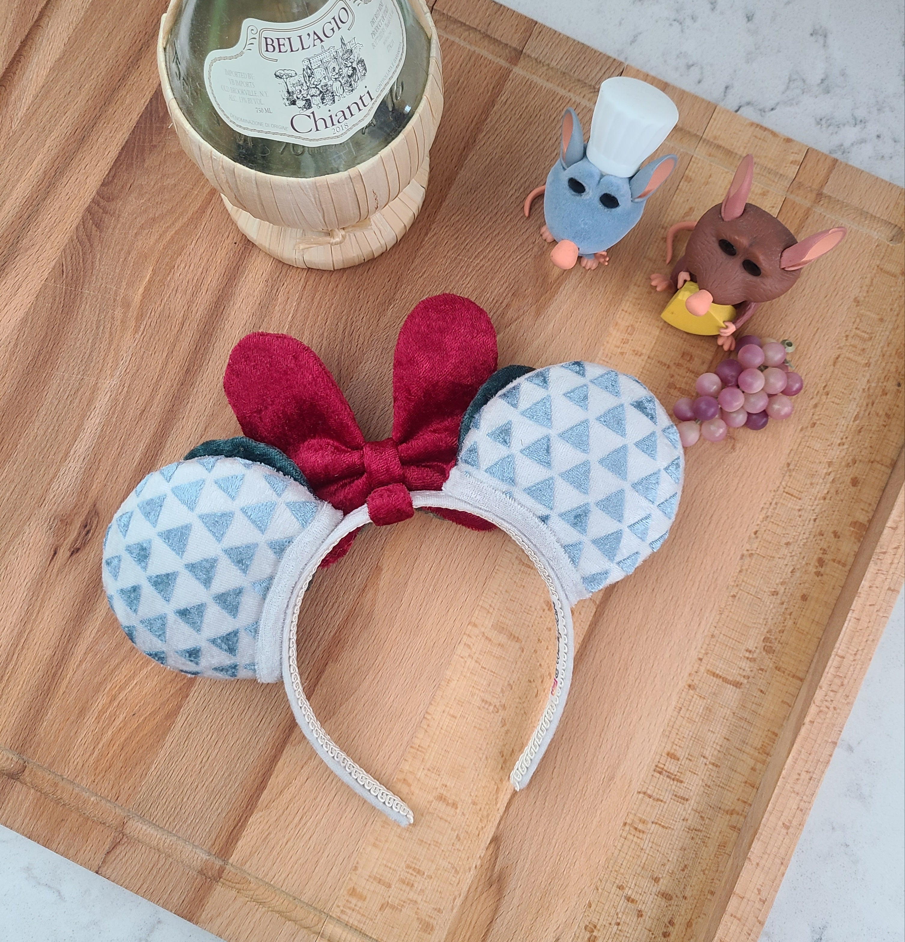 DELUXE Plush Food and Wine Handmade Ears