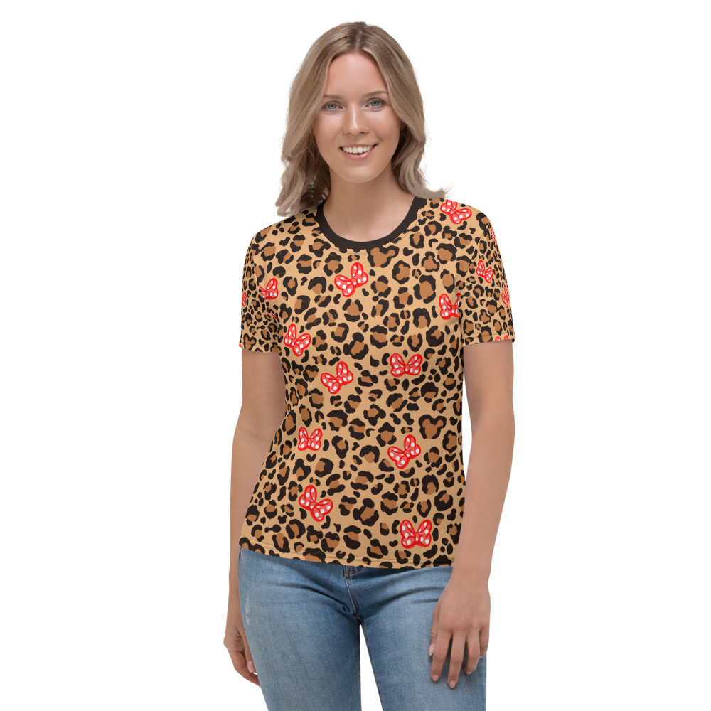 Leop-bow'd Print Women's T-shirt