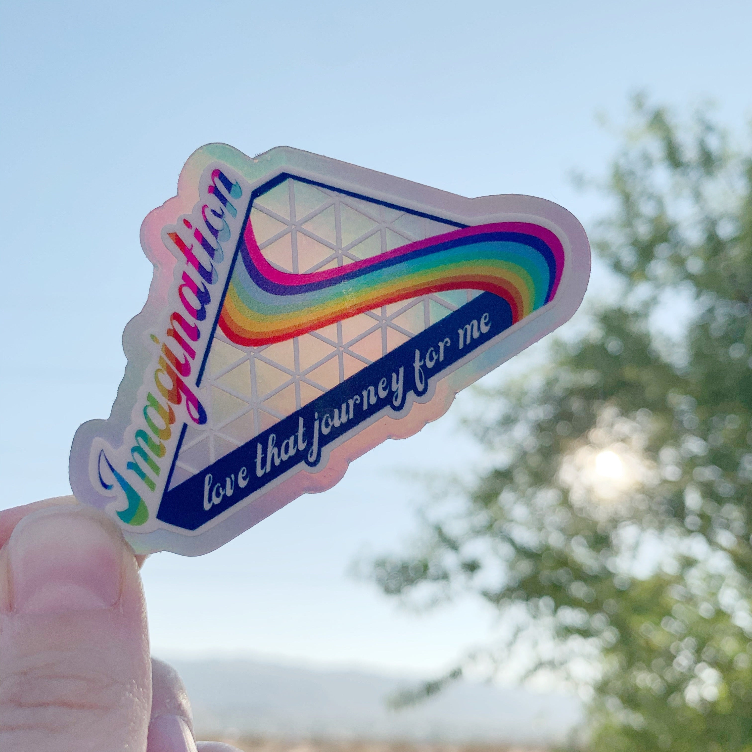 Journey into Imagination Holographic Vinyl Sticker