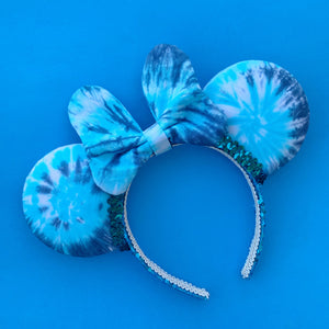 Hand Dyed Pandora Swirl Minnie Ears