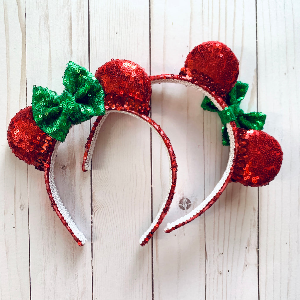 Holiday Red & Green Mini Minnie Ears