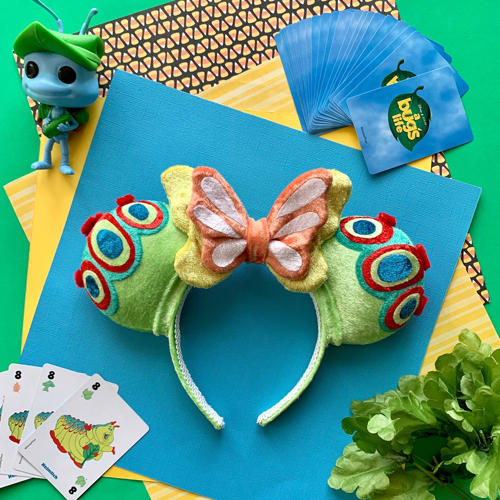 PRE-ORDER Plush Caterpillar Handmade Ears