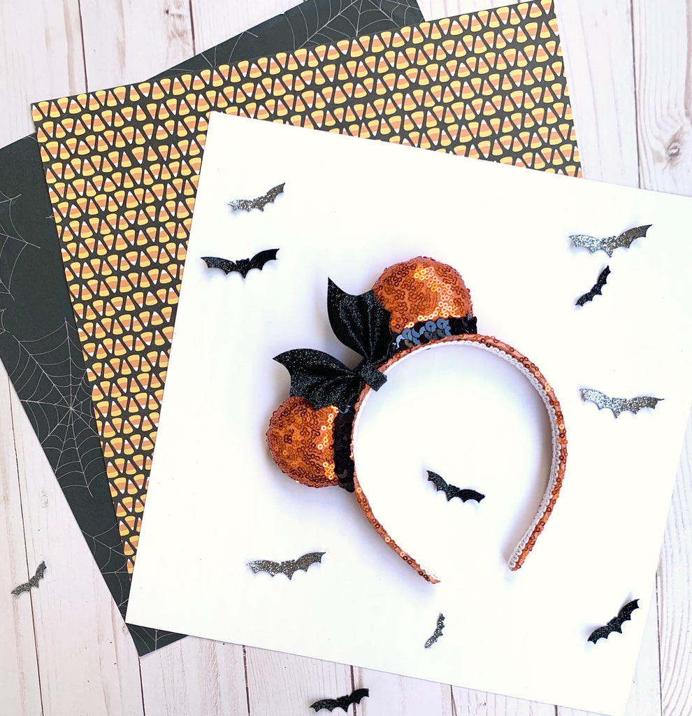 Halloween Mini Minnie Ears with Bat Bow