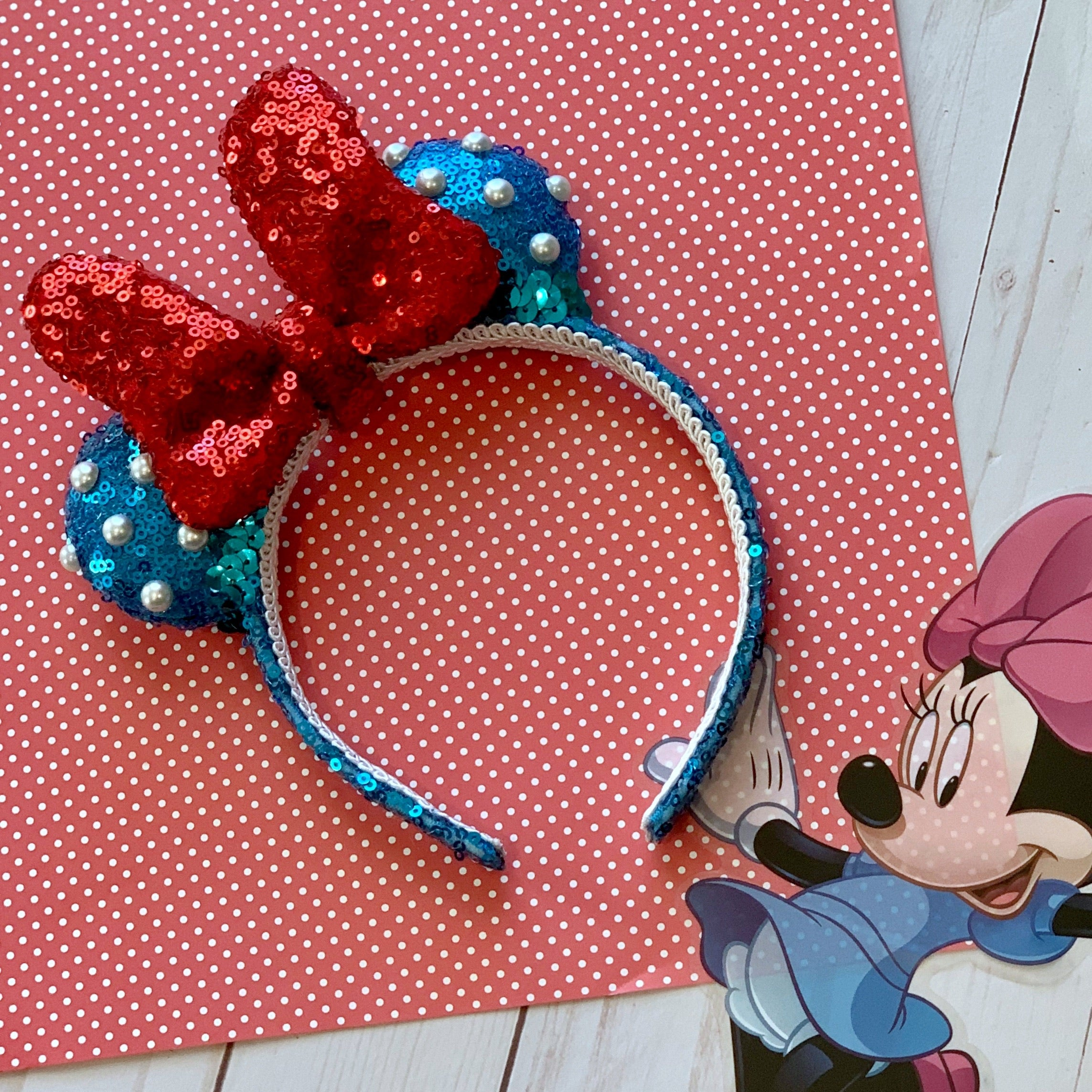 Sequin Fancy Vintage Minnie MINI Handmade Ears