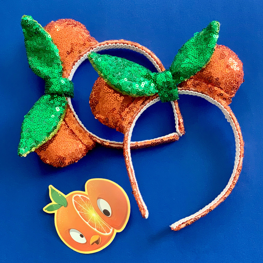 PRE-ORDER Orange Sequin Mini Minnie Ears
