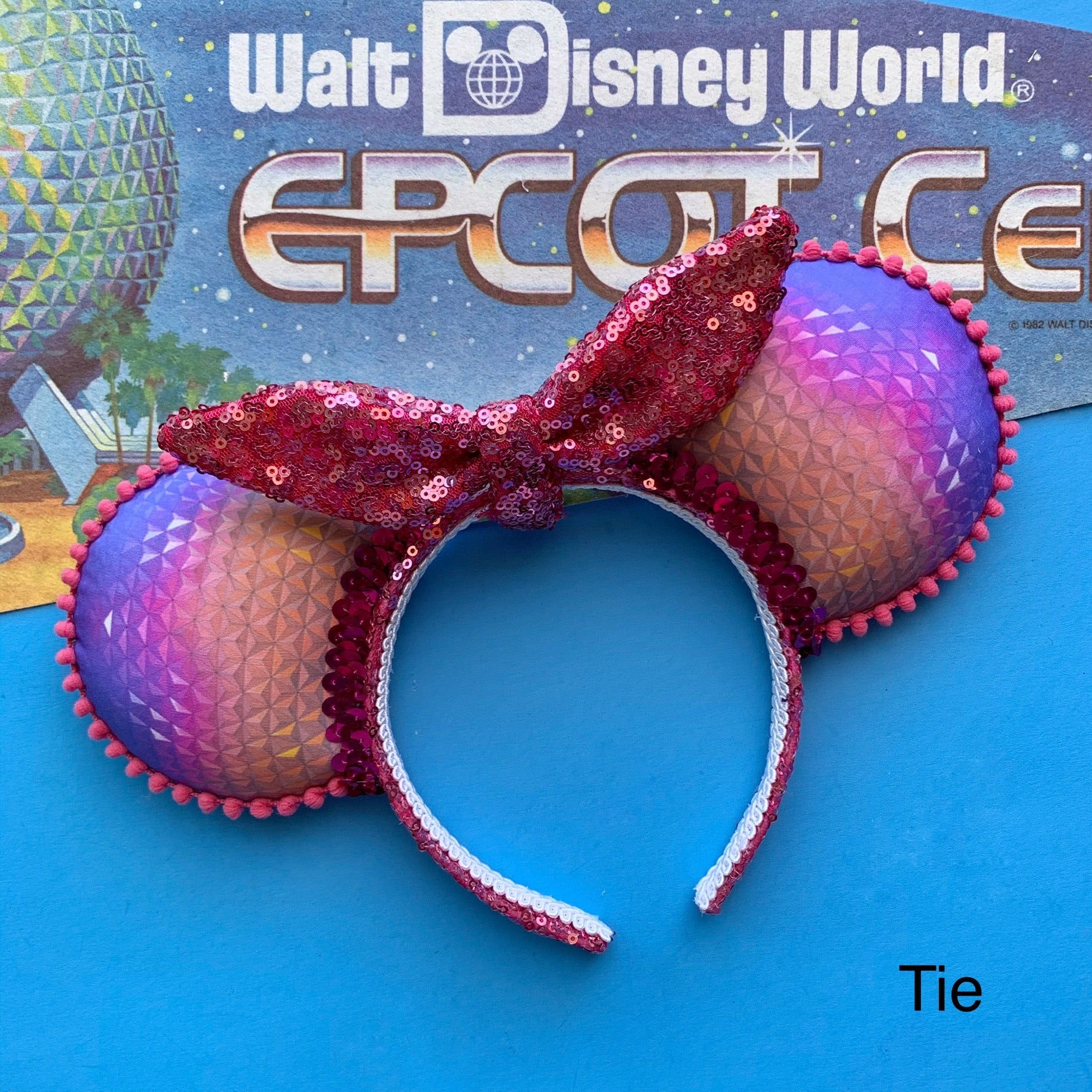 PRE-ORDER Space Dome at Night Choose your Bow Handmade Ears