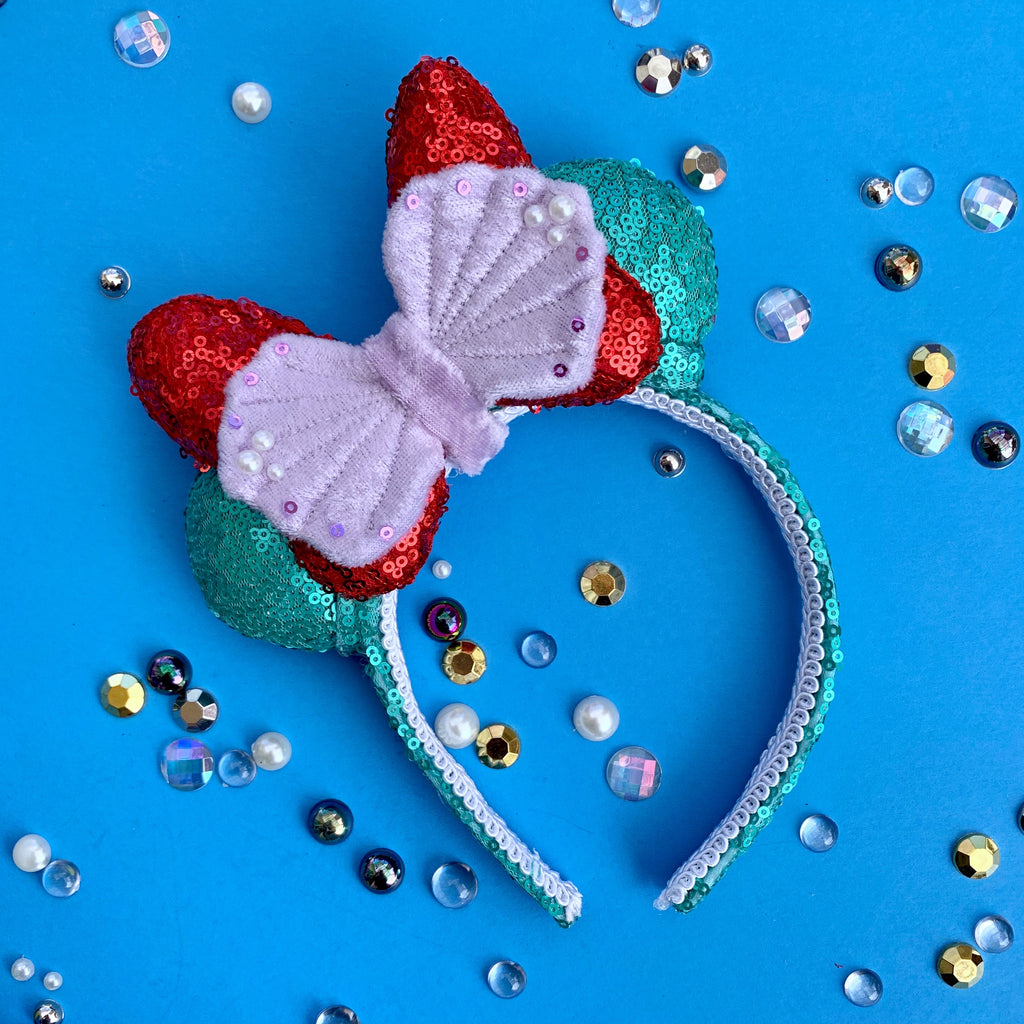 Sequin Mermaid MINI Handmade Ears