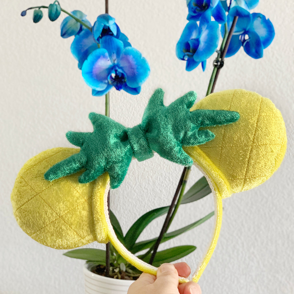 Plush Tiki Pineapple Handmade Ears