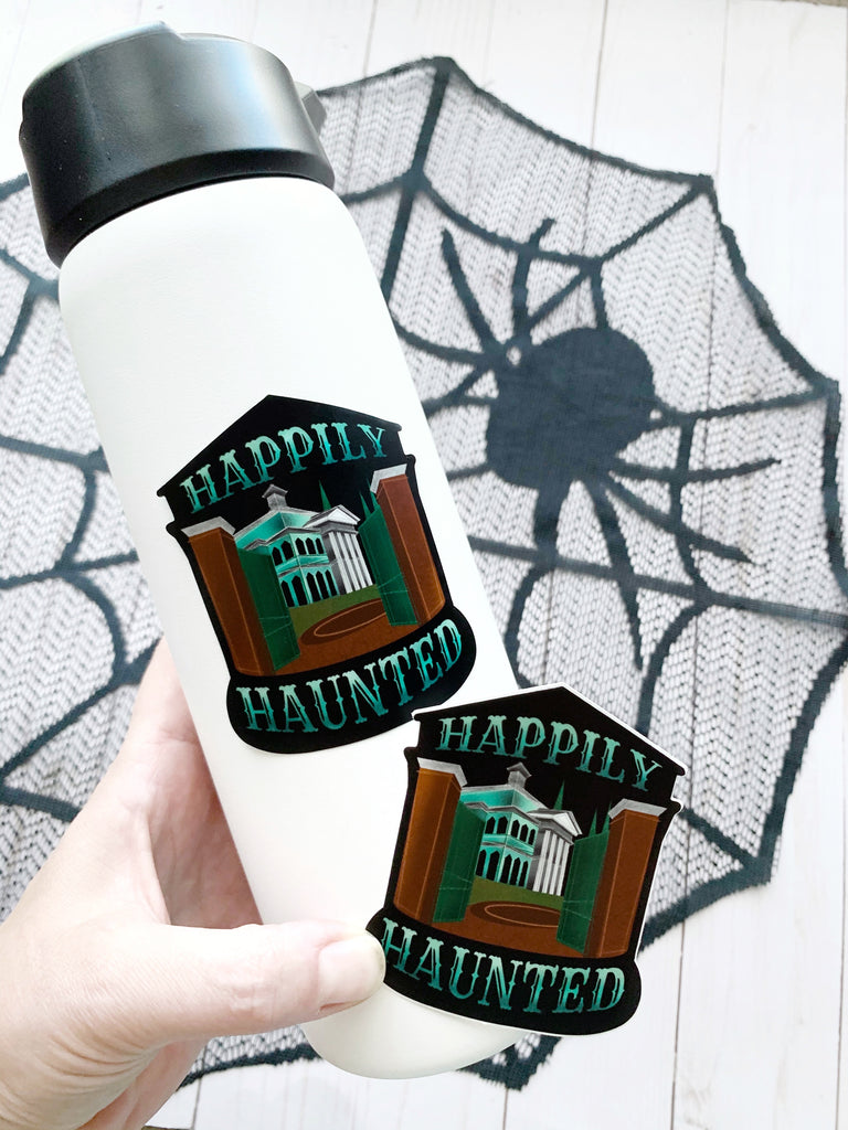 Happily Haunted Vinyl Sticker