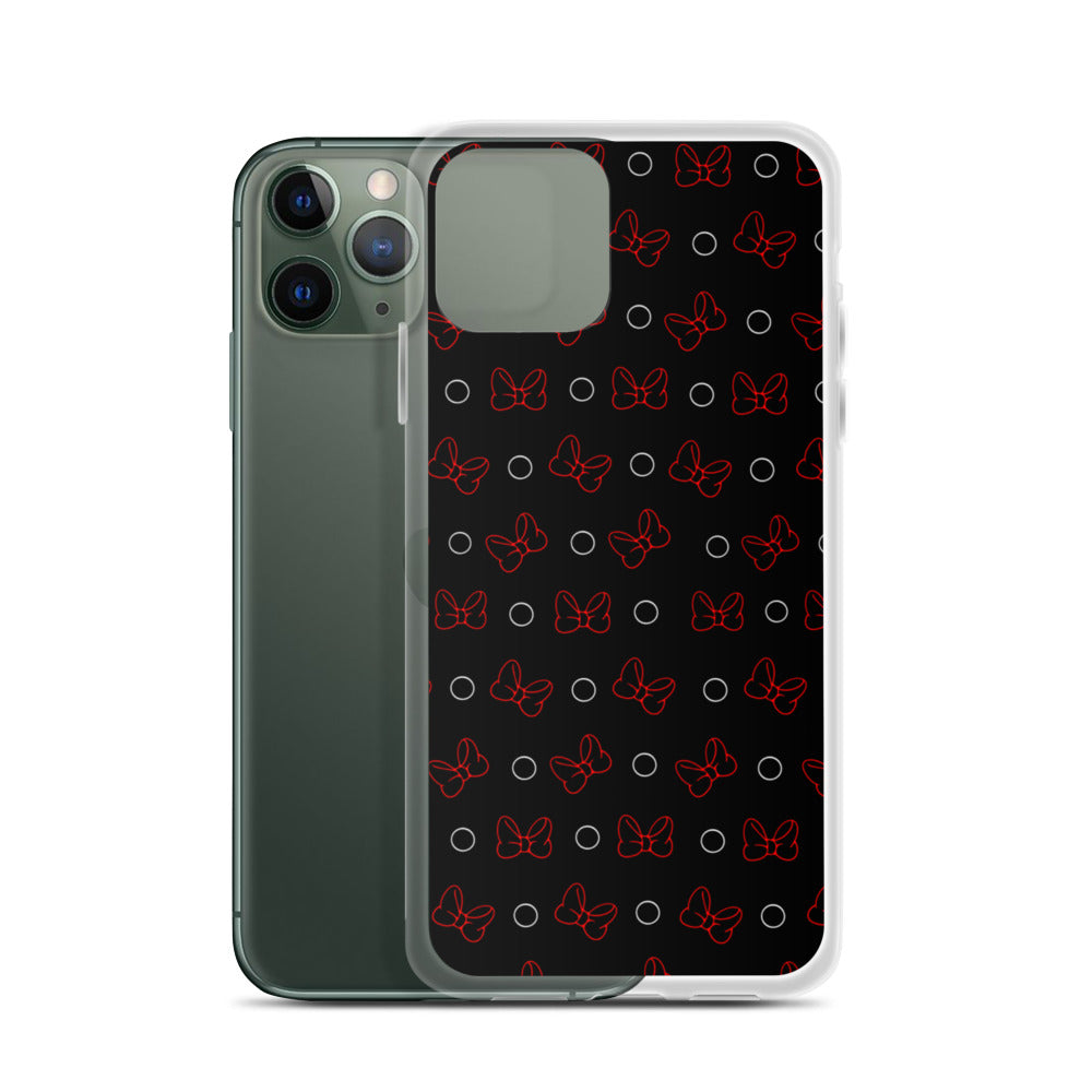 Black Bow-ka Dot iPhone Case