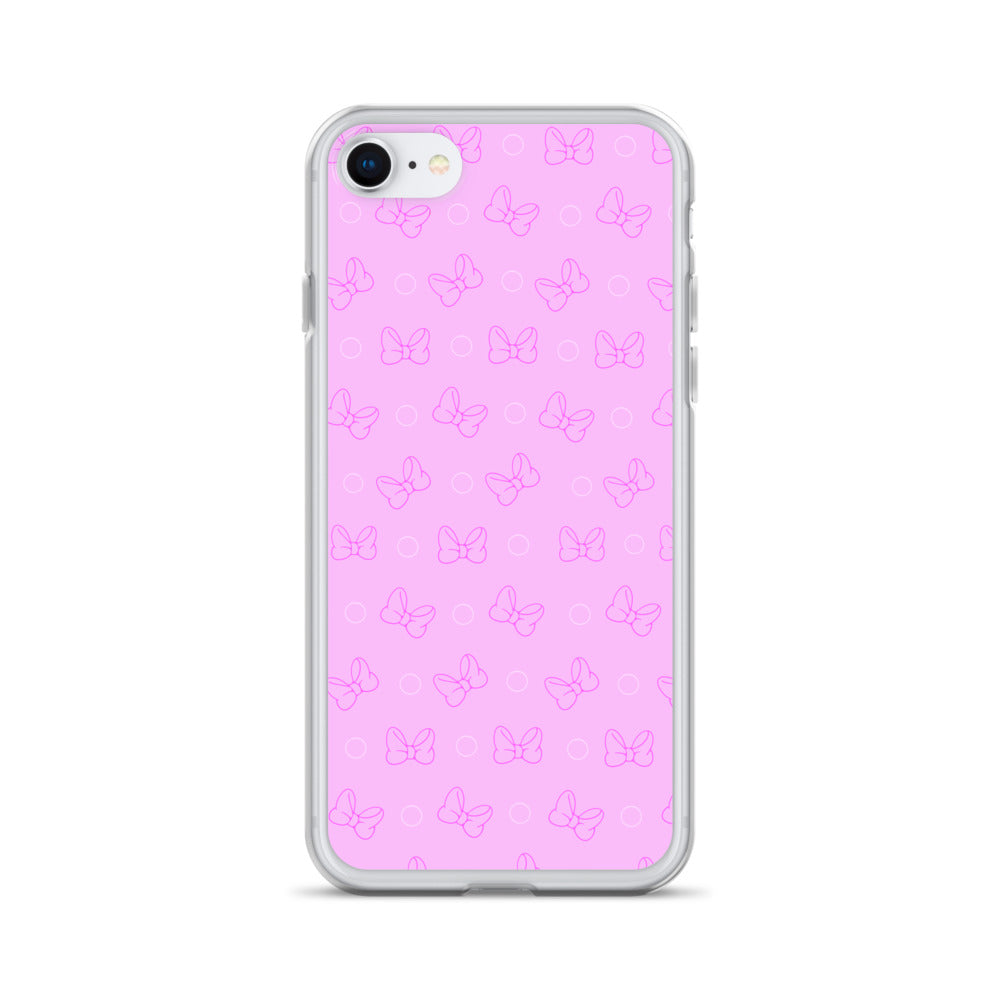 Pink Bow-ka Dot iPhone Case