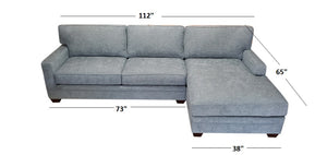 Loft 2PC Sectional Right Facing 112""