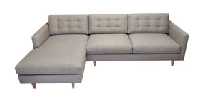 "San Diego 2PC Sectional Left Facing 112""w x 65""Chaise *No Buttons on Seats"