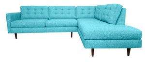 "San Diego 2pc Sectional Right Facing 111""W x 88""L"