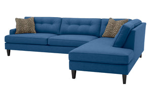 "Olivia 2pc Sectional Right Facing 117""W x 85""L with Down Wrapped Seats"