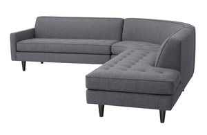 "Hollywood 3pc Sectional Right Facing 112"" x 111"""