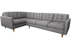 "San Diego 2pc Sectional Right Facing 122""W x 75""L"