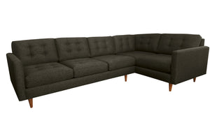 "San Diego 2pc Sectional Left Facing 122""W x 75""L"