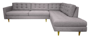"San Diego 2pc Sectional Right Facing 119""W x 87""L"