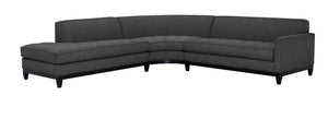 "Hollywood 3pc Sectional w/Wood Base Left Facing 112"" x 111"""