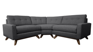 "Venice 3pc Curved Sectional 86""W x 86""L"