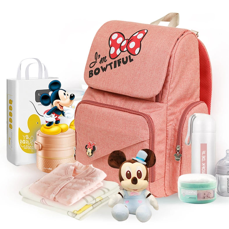 Disney Mickey & Minnie Dual Flap Diaper Bag