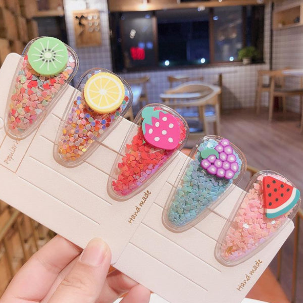 Fruits Hair Snap Clip Set