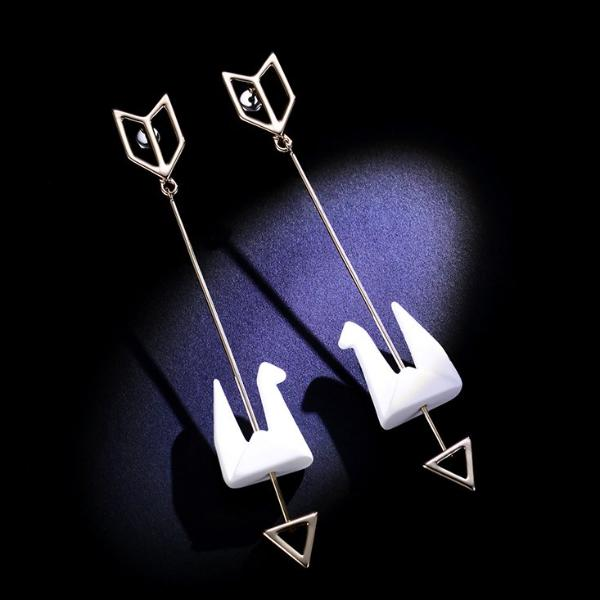 Paper Crane Earrings