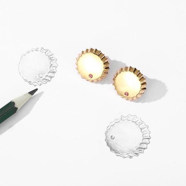 Bottle Cap Stud Earrings