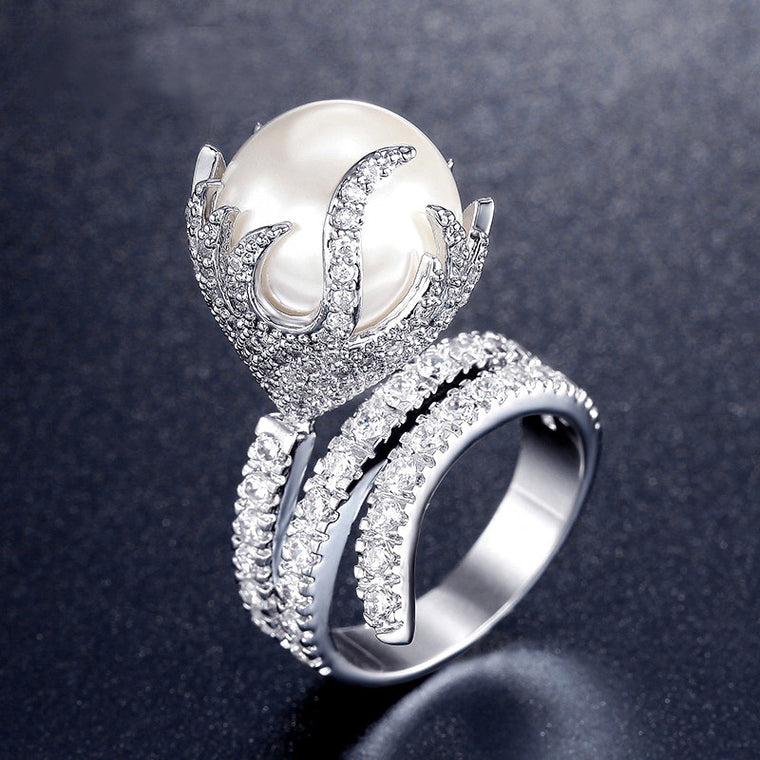 Pearl Of Fire Ring
