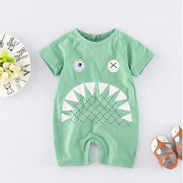 Monster Short Sleeve Romper