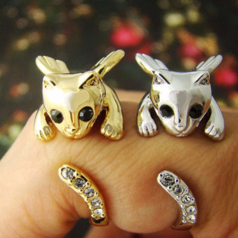 Winged Cat Ring