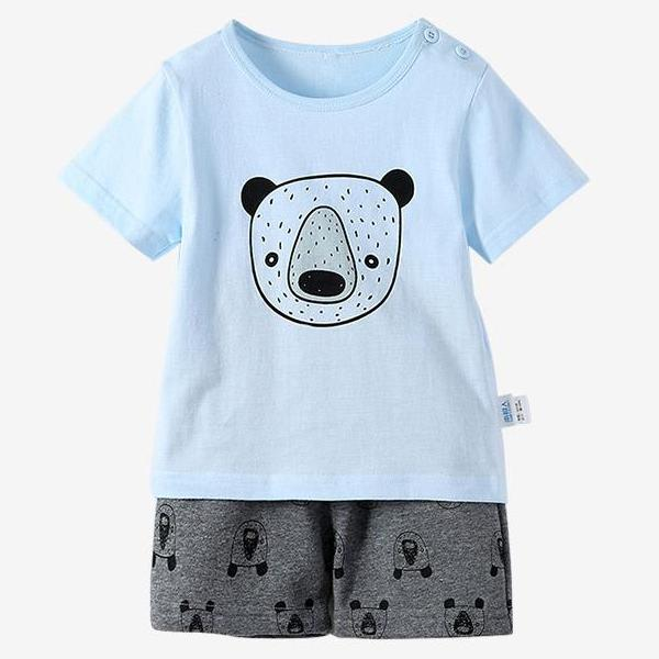 Bear Summer T-Shirt and Shorts Set