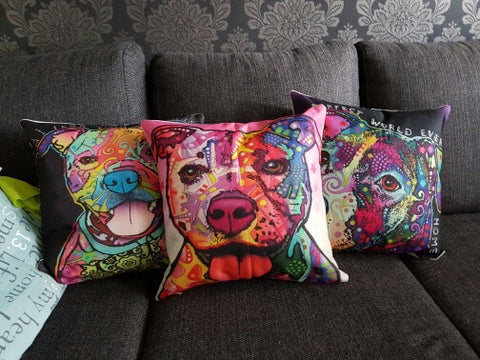 Stylized Dog Cushion Cover