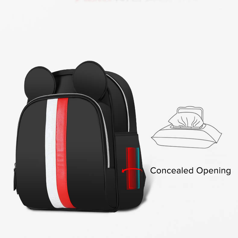 Disney Mickey Striped Diaper Bag