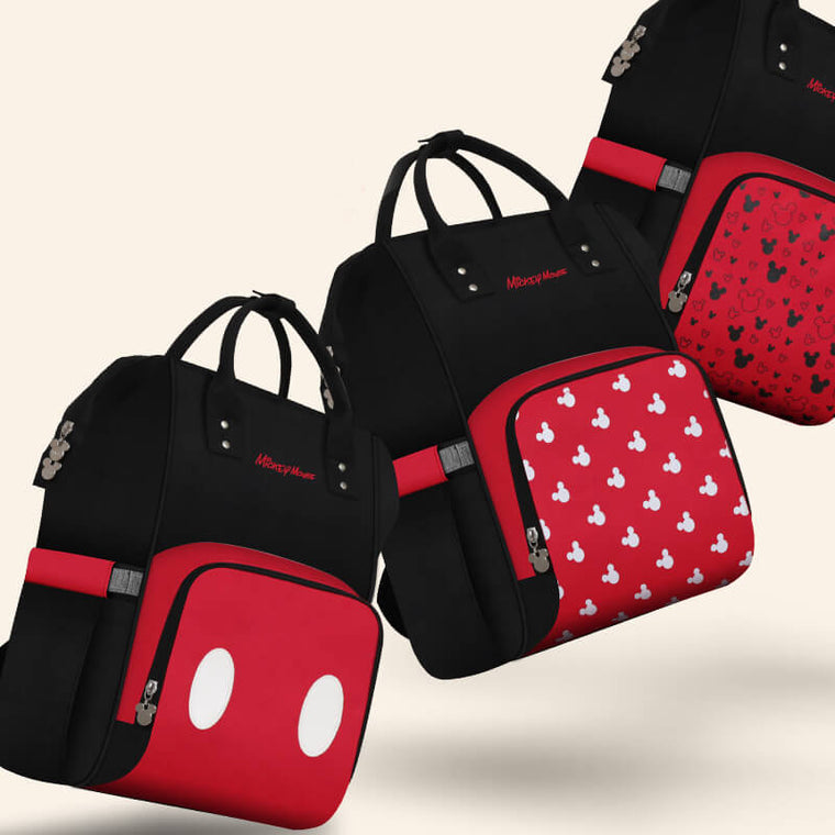 Disney Mickey & Minnie Pocket Patterned Diaper Bag (Special Deal)