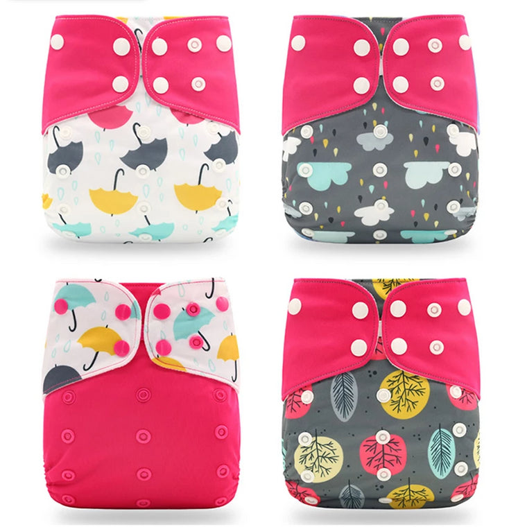Reusable Cloth Diaper - 4 Pack