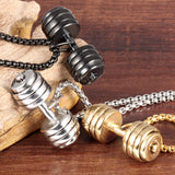 Loaded Dumbbell Necklace