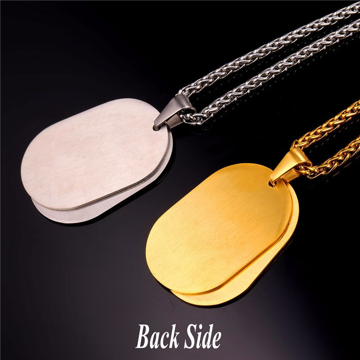 Baseball Dog Tag Necklace