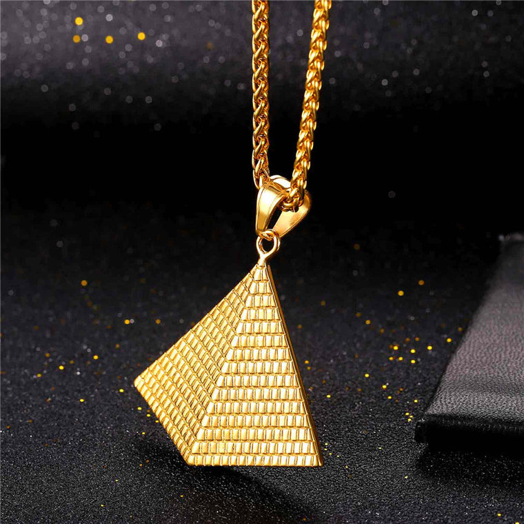 Pyramid Pendant Necklace