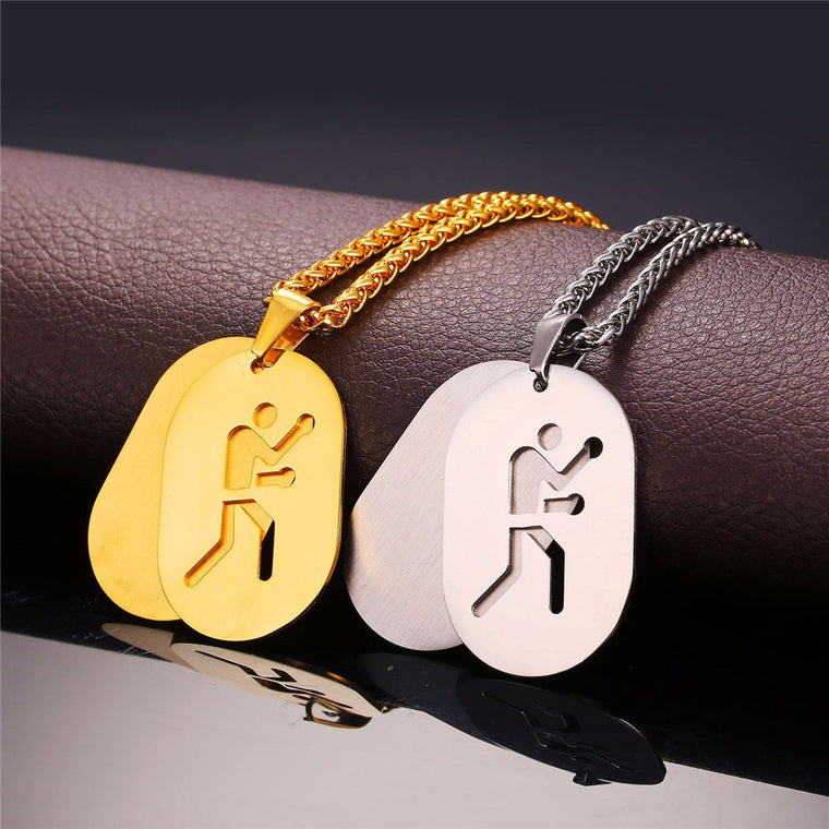 Boxing Dog Tag Necklace