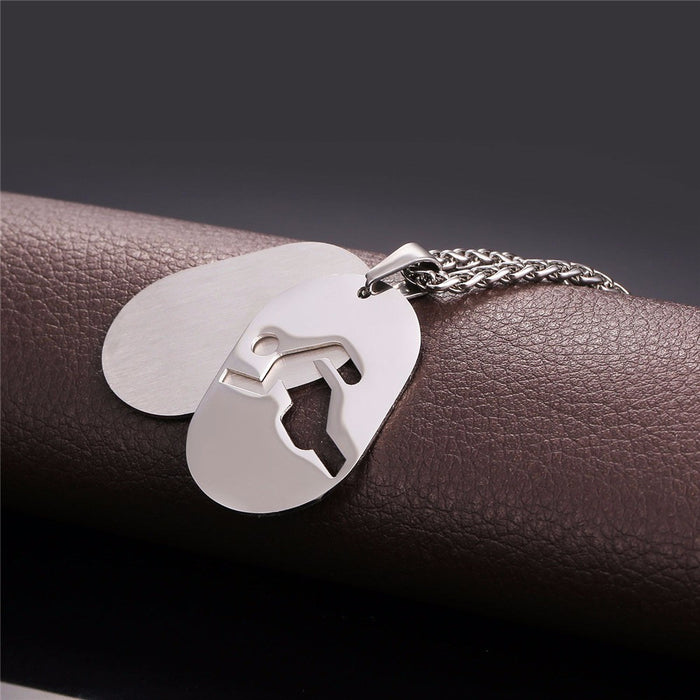 Track & Field Dog Tag Necklace